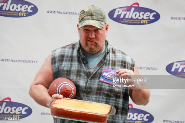 Comedian Larry the Cable Guy attends the A Better Way to Tailgate challenge kickoff at Times Square on November 15 2011 in New York City
