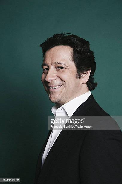 Comedian Laurent Gerra is photographed for Paris Match on December 12 2015 in Paris France