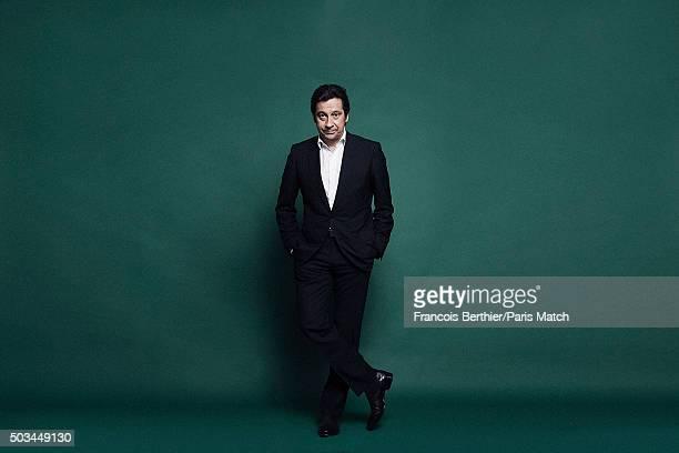 Comedian Laurent Gerra is photographed for Paris Match on December 12 2015 in Paris France