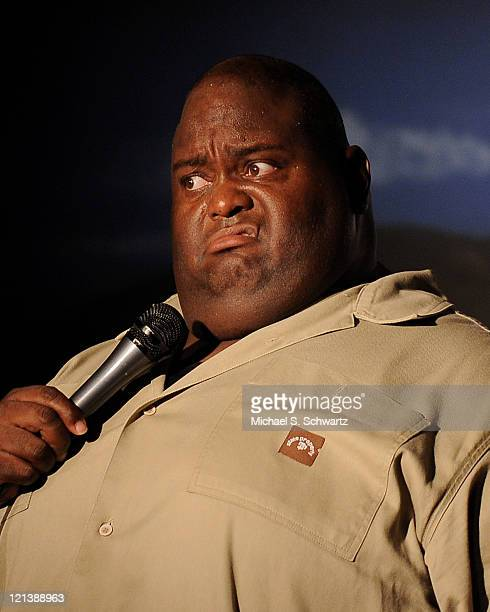 Comedian Lavell Crawford performs during his appearance at The Ice House Comedy Club on August 18 2011 in Pasadena California