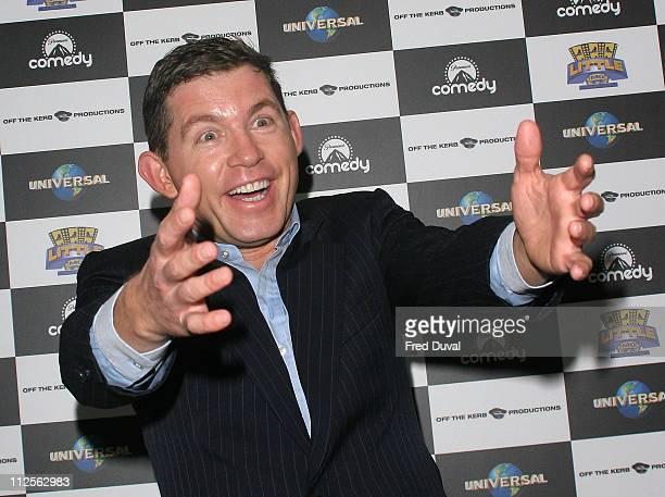 Comedian Lee Evans announces his record-breaking comedy tour at the Groucho Club on October 24, 2007 in London, England.