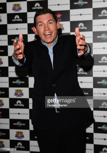 Comedian Lee Evans attends a photocall to promote his UK tour on October 24 2007 in London England
