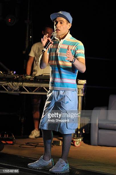 Comedian Lee Nelson performs on stage during The Big Chill Festival 2011 at Eastnor Castle Deer Park on August 6, 2011 in Ledbury, United Kingdom.