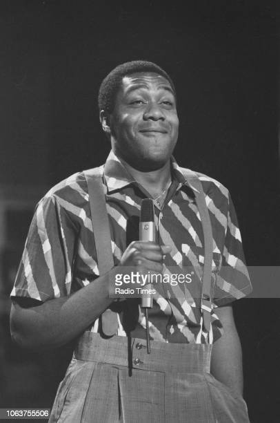 Comedian Lenny Henry in a sketch from the television show 'The Lenny Henry Show' August 1984