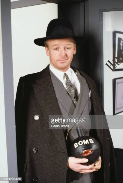 Comedian Les Dennis in a gangstar sketch from BBC Television series 'The Russ Abbot Show' April 26th 1991