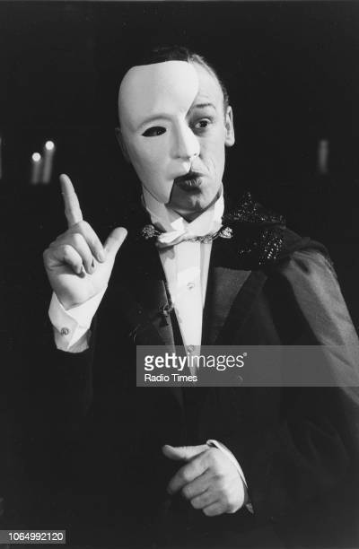 Comedian Les Dennis wearing a Phantom of the Opera costume in a sketch from the comedy television series 'The Les Dennis Laughter Show' March 18th...