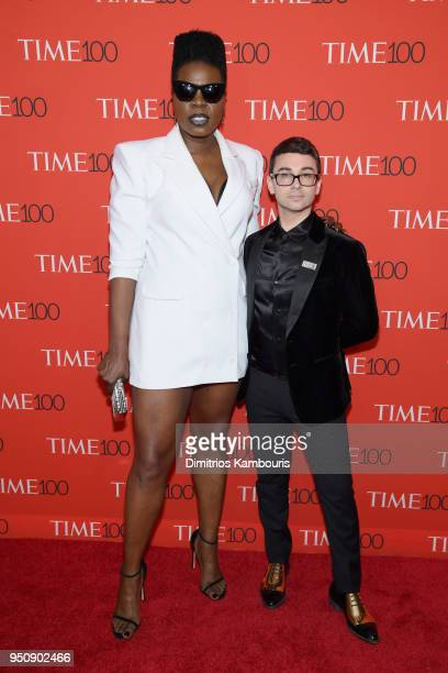 Comedian Leslie Jones and designer Christian Siriano attend the 2018 Time 100 Gala at Jazz at Lincoln Center on April 24 2018 in New York City