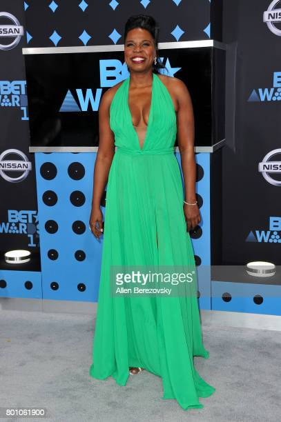 Comedian Leslie Jones arrives at the 2017 BET Awards at Microsoft Theater on June 25 2017 in Los Angeles California