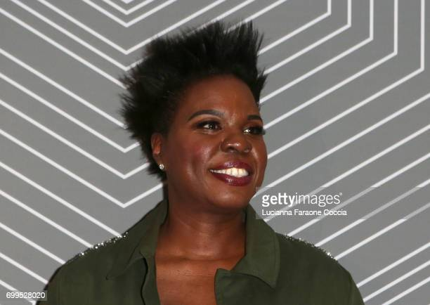 Comedian Leslie Jones attends BET Chairman and CEO Debra Lee's 'PRE' a BET Awards dinner for the 17th Annual BET Awards at The London West Hollywood...