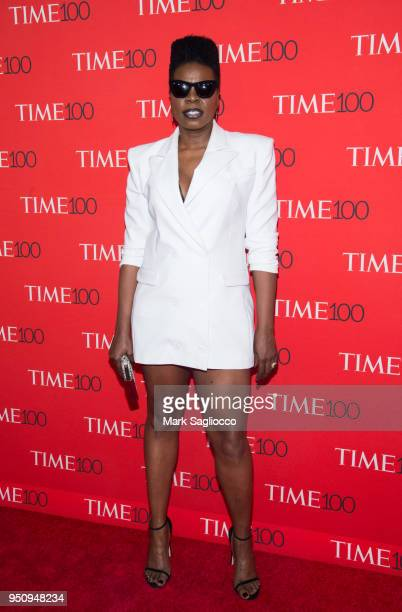 Comedian Leslie Jones attends the 2018 Time 100 Gala at Frederick P Rose Hall Jazz at Lincoln Center on April 24 2018 in New York City
