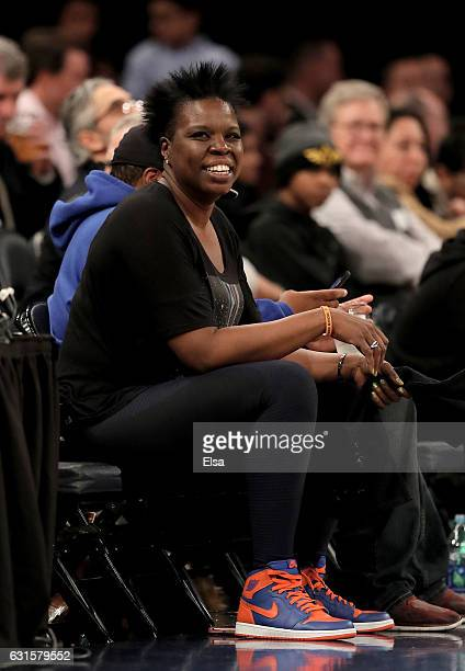 Comedian Leslie Jones attends the game between the New York Knicks and the Chicago Bulls at Madison Square Garden on January 12, 2017 in New York...
