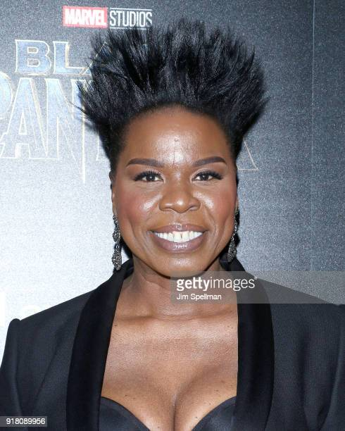 Comedian Leslie Jones attends the screening of Marvel Studios' 'Black Panther' hosted by The Cinema Society with Ravage Wines and Synchrony at Museum...