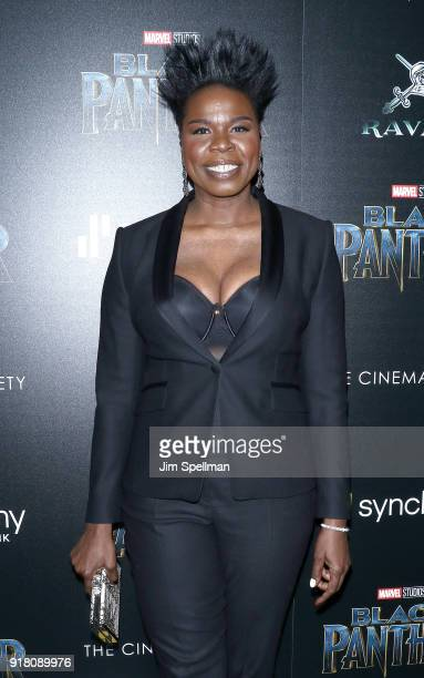 Comedian Leslie Jones attends the screening of Marvel Studios' Black Panther hosted by The Cinema Society with Ravage Wines and Synchrony at Museum...