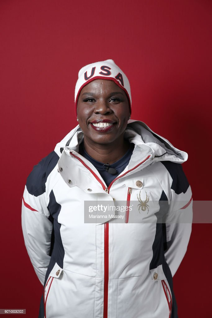 Comedian Leslie Jones poses for a portrait on the Today Show Set on February 19, 2018 in Gangneung, South Korea.