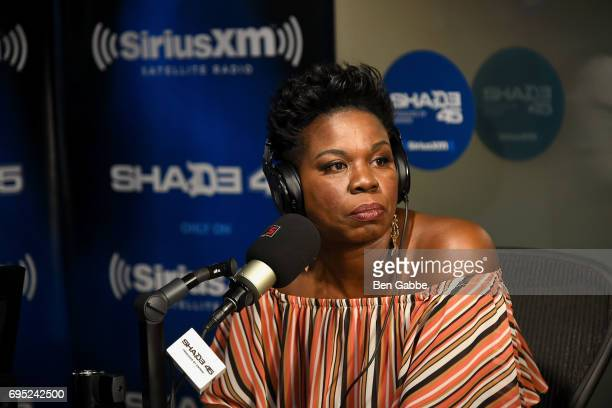 Comedian Leslie Jones visits 'Sway in the Morning' on Eminem's Shade 45 at the SiriusXM Studios on June 12 2017 in New York City