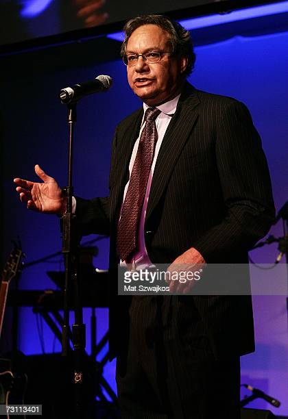"Comedian Lewis Black performs at Kenneth Cole's ""R.S.V.P. To HELP"" benefit hosted by Kenneth Cole and Jon Bon Jovi at the Tribeca Rooftop on January..."