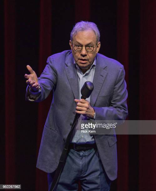 Comedian Lewis Black performs onstage during The Joke's On US Tour at ACL Live on April 27 2018 in Austin Texas