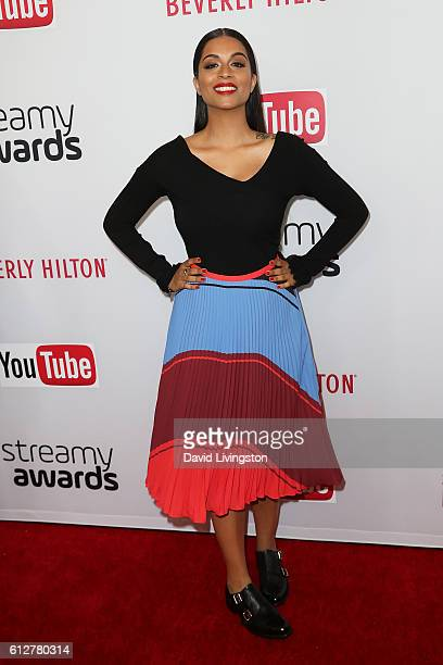 Comedian Lilly Singh arrives at the 2016 Streamy Awards at The Beverly Hilton Hotel on October 4 2016 in Beverly Hills California
