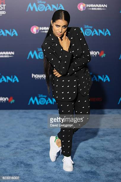 Comedian Lilly Singh arrives at the AFI FEST 2016 presented by Audi premiere of Disney's 'Moana' held at the El Capitan Theatre on November 14 2016...