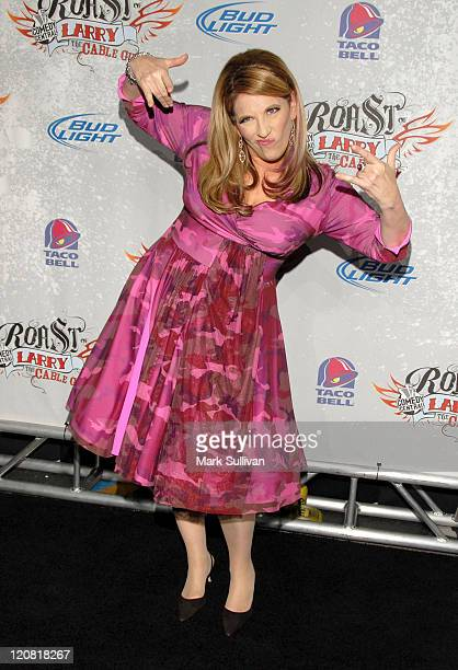 Comedian Lisa Lampanelli arrives at Comedy Central presents Roast of Larry The Cable Guy at Warner Brothers on March 1 2009 in Burbank California