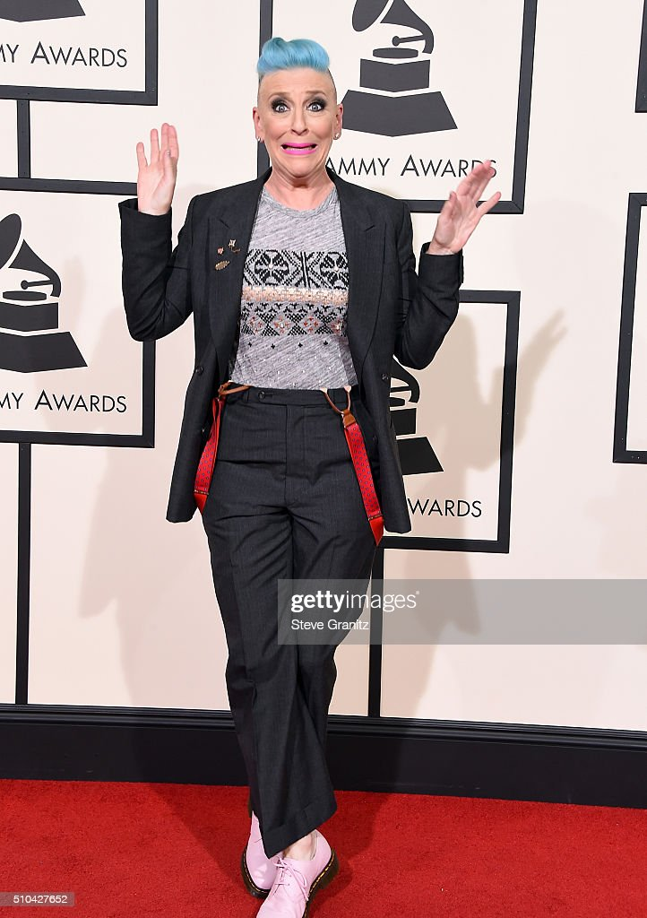 Comedian Lisa Lampanelli attends The 58th GRAMMY Awards at Staples Center on February 15, 2016 in Los Angeles, California.