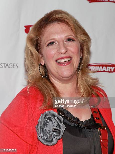 """Comedian Lisa Lampinelli attends the after party for the opening night of """"Olive and the Bitter Herbs"""" at 48 Lounge on August 16, 2011 in New York..."""