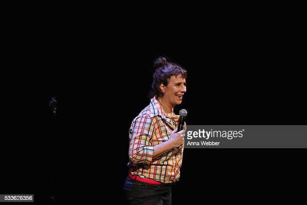Comedian Lizz Winstead performs onstage during Vulture Festival presents Sarah Silverman Friends at BAM on May 22 2016 in New York City