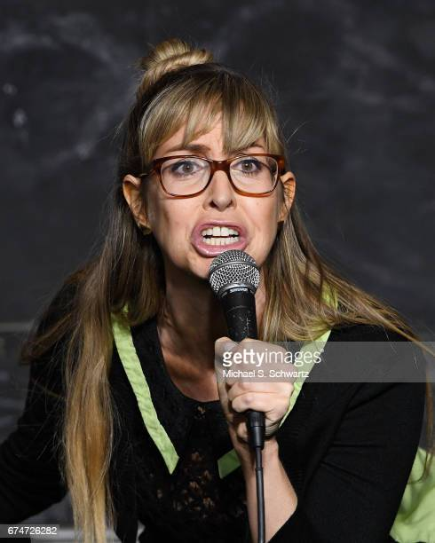 Comedian Lizzy Cooperman performs during her appearance at The Ice House Comedy Club on April 28 2017 in Pasadena California