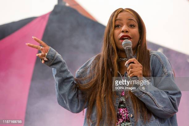 Comedian London Hughes performs live on stage at the Henham Park during the Latitude Festival in Southwold Suffolk