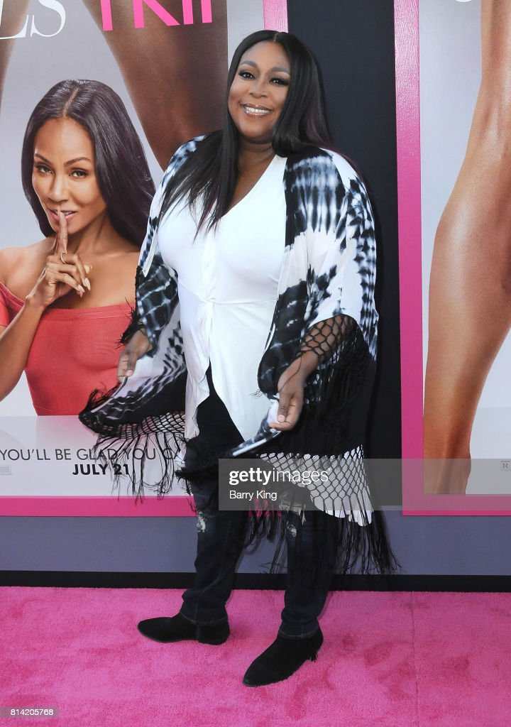 Comedian Loni Love attends the Premiere of Universal Pictures' 'Girls Trip' at Regal LA Live Stadium 14 on July 13, 2017 in Los Angeles, California.