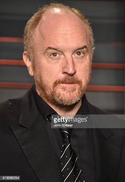 Comedian Louis CK arrives at the 2016 Vanity Fair Oscar Party Hosted By Graydon Carter at Wallis Annenberg Center for the Performing Arts on February...