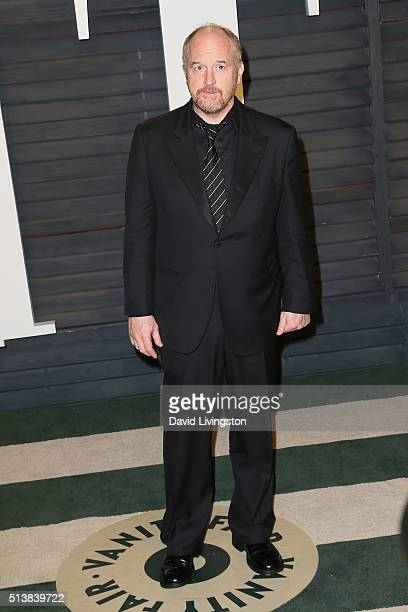 Comedian Louis CK arrives at the 2016 Vanity Fair Oscar Party Hosted by Graydon Carter at the Wallis Annenberg Center for the Performing Arts on...