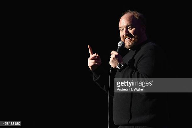 Comedian Louis CK performs onstage at 2014 Stand Up For Heroes at Madison Square Garden at Madison Square Garden on November 5 2014 in New York City