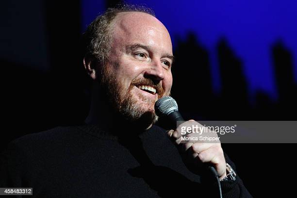 Comedian Louis CK performs onstage at The New York Comedy Festival and The Bob Woodruff Foundation present the 8th Annual Stand Up For Heroes Event...