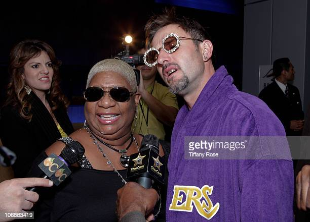 Comedian Luenell and actor David Arquette attend Ron Artest's Birthday Celebration at The Conga Room at LA Live on November 14 2010 in Los Angeles...