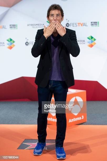 Comedian Manel Fuentes attends to presentation of new season of 'Tu cara me suena' during FestVal in Vitoria Spain September 06 2018