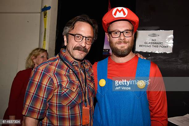 Comedian Marc Maron and actor/cofounder of HFC of Seth Rogen attend Hilarity for Charity's 5th Annual Los Angeles Variety Show Seth Rogen's Halloween...