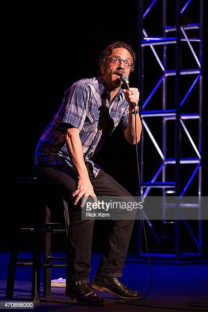 Comedian Marc Maron performs onstage during the Moontower Comedy Festival at The Paramount Theatre on April 23 2015 in Austin Texas