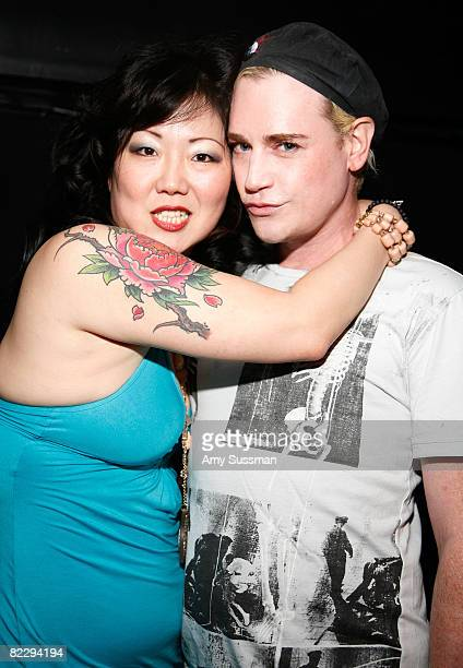 Comedian Margaret Cho and Heatherette's Richie Rich attend a screening of Margaret Cho's 'The Cho Show' at Le Royale on August 13 2008 in New York...