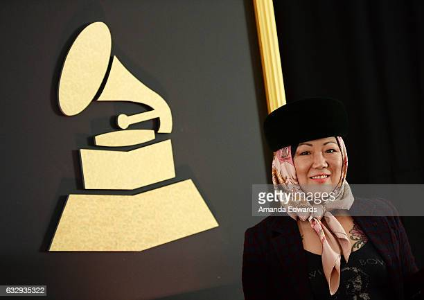 Comedian Margaret Cho arrives at The Recording Academy Los Angeles Chapter's celebration honoring the nominees of the 59th GRAMMY Awards at Fig &...