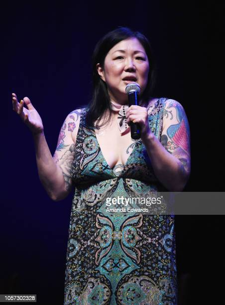 Comedian Margaret Cho attends the Los Angeles leg of Stephanie Miller's Sexy Liberal Blue Wave Tour at The Saban Theatre on November 3 2018 in...
