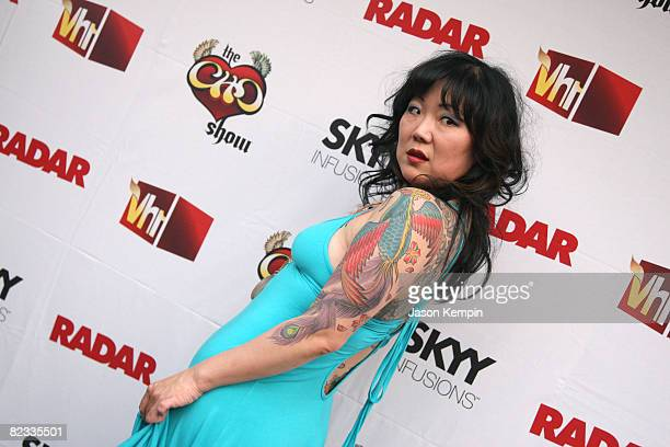 Comedian Margaret Cho attends the premiere of VH1's 'The Cho Show' at Le Royale on August 13 2008 in New York City