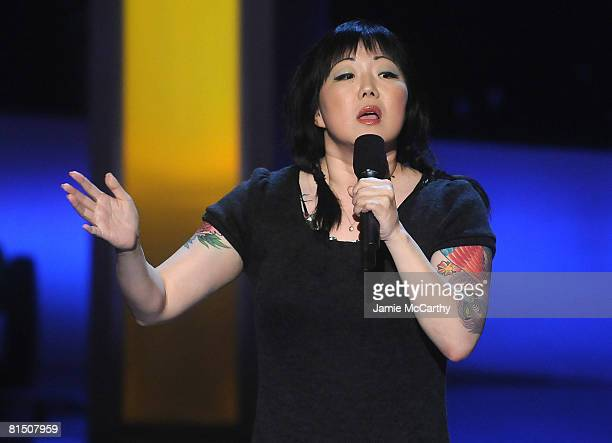 """Comedian Margaret Cho on stage during Bravo's 1st """"A-List Awards"""" at the Hammerstein Ballroom on June 4, 2008 in New York City."""