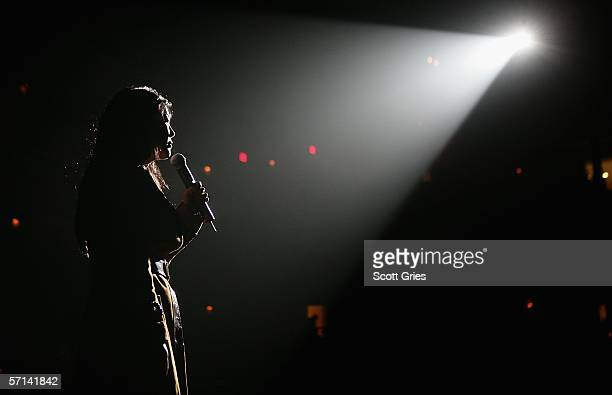 Comedian Margaret Cho performs at the Bring 'Em Home Now 3rd Iraq War Anniversary Concert at Hammerstein Ballroom March 20 2006 in New York City
