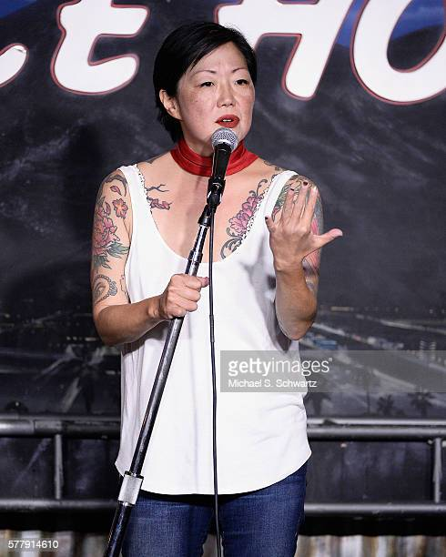 Comedian Margaret Cho performs during her appearance at The Ice House Comedy Club on July 19 2016 in Pasadena California