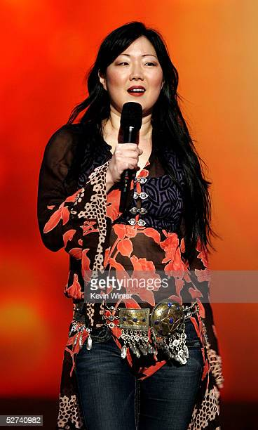 Comedian Margaret Cho performs onstage during the 16th Annual GLAAD Media Awards at the Kodak Theater on April 30, 2005 in Hollywood, California.