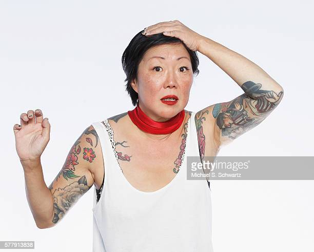 Comedian Margaret Cho poses after her performance at The Ice House Comedy Club on July 19, 2016 in Pasadena, California.