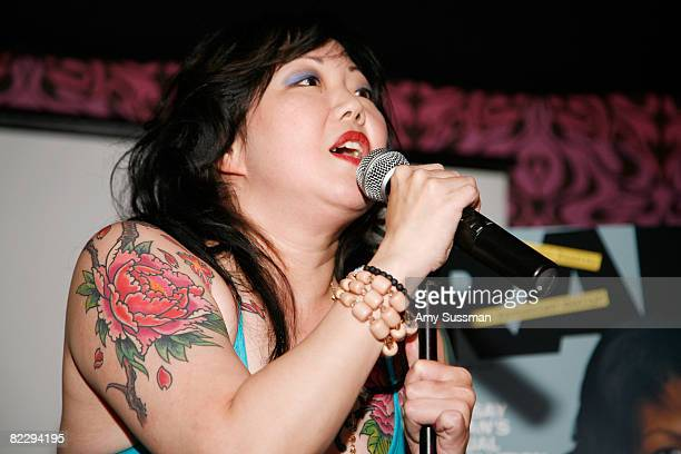 Comedian Margaret Cho speaks at a screening of Margaret Cho's 'The Cho Show' at Le Royale on August 13 2008 in New York City
