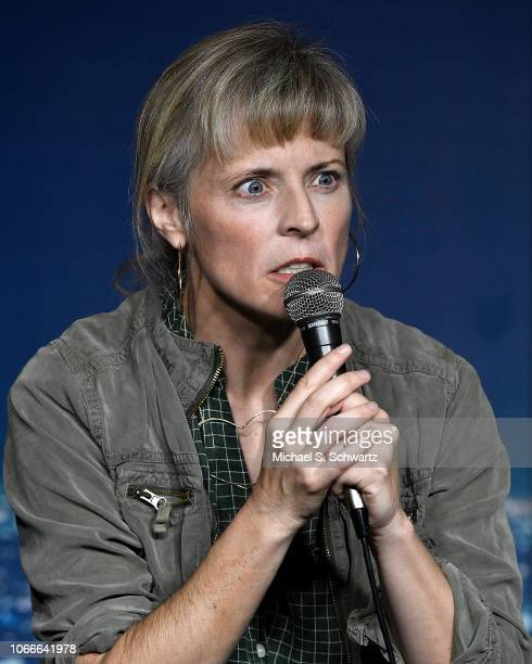Comedian Maria Bamford performs during her appearance at the Oak Knoll Montessori School Fundraiser at The Ice House Comedy Club on November 29 2018...