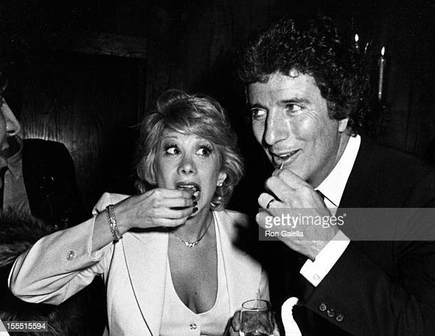Comedian Marilyn and television personality Bert Convy attend the party for Entertainment Tonight on January 5 1983 at Tavern on the Green in New...